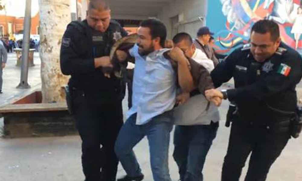 Arrestan a activista de Mexicali Resiste; anuncian manifestación frente a PGJE