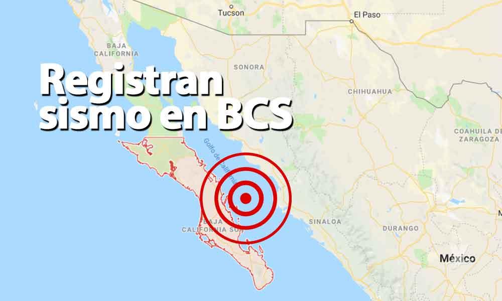 Se registra sismo de 4.3 grados al noreste de Loreto, BCS