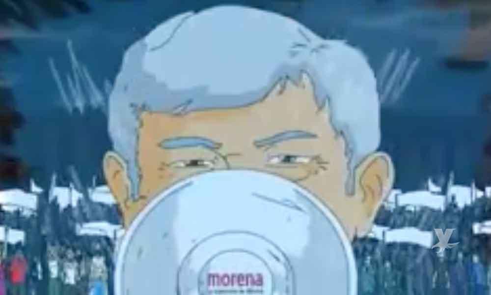 """(VIDEO) AMLO tiene su propio """"anime"""" donde lucha contra la mafia del poder"""