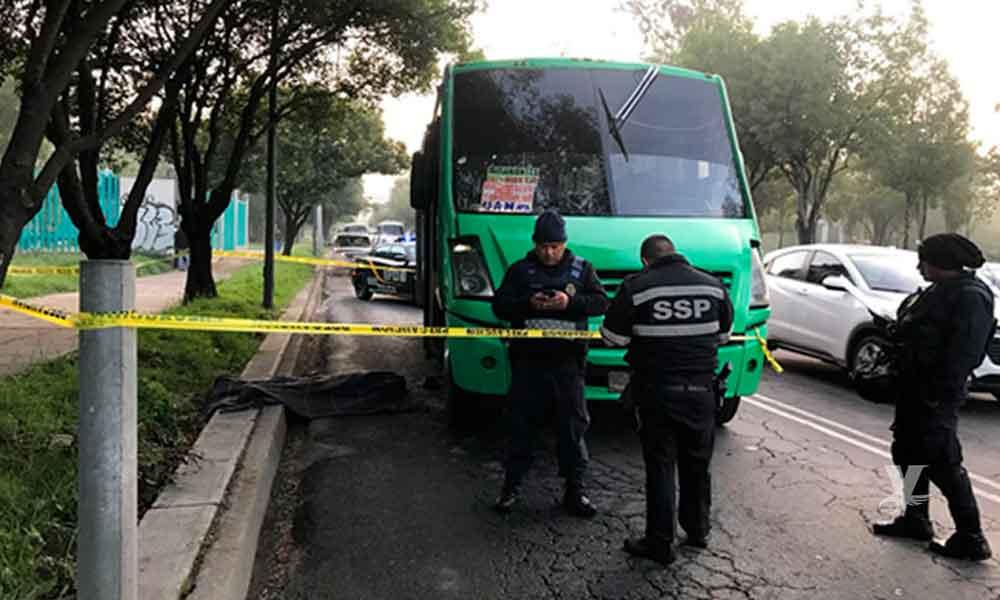 Pasajero de transporte público enfrenta a 3 ladrones y mata a uno en CDMX