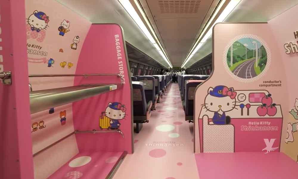 (VIDEO) Tren bala de Hello Kitty el más tierno y veloz del mundo