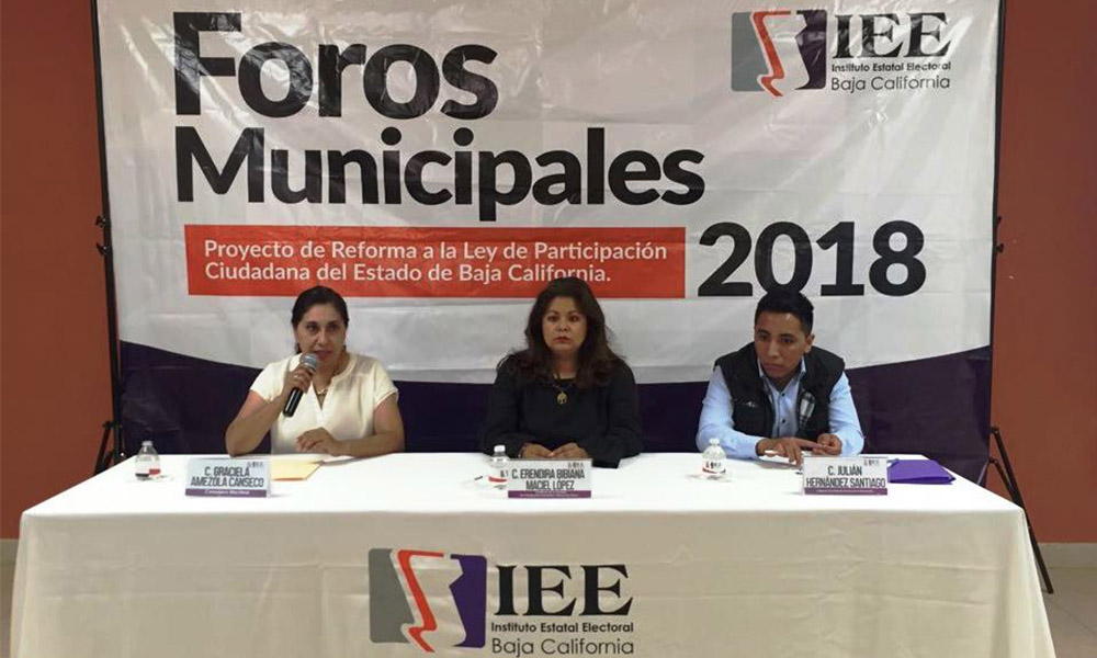 Llega a San Quintín el foro del Proyecto de Reforma a la Ley de Participación Ciudadana de Baja California