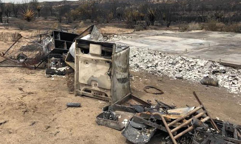 Recorre Protección Civil zona afectada por incendio forestal en Ensenada