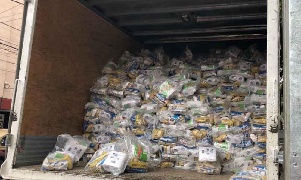 Localizan camión de Sedesol lleno de despensas en casa de campaña del PAN