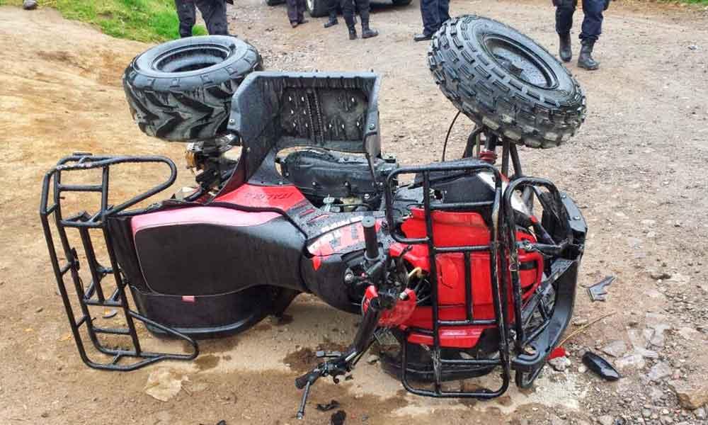 Un hombre y una mujer murieron en accidente a bordo de una cuatrimoto en Cerro Azul