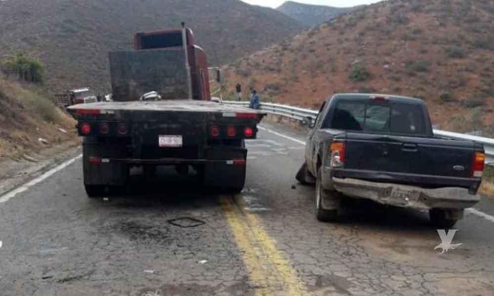 Fatal accidente en carretera de Ensenada deja un muerto
