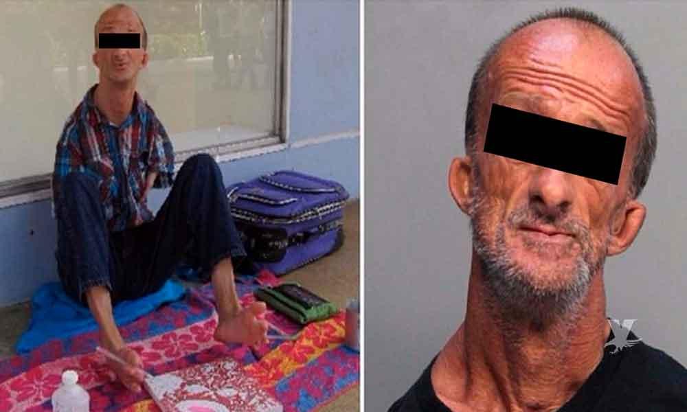Hombre sin brazos es acusado de apuñalar a un turista en Estados Unidos