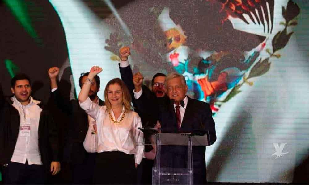 """(VIDEO) """"No les voy a fallar"""" primera declaración de AMLO al pueblo mexicano al ser el ganador de las votaciones"""