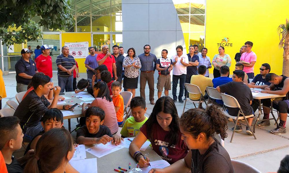 Anuncian rehabilitación de la Unidad Deportiva Eufrasio Santana de Tecate