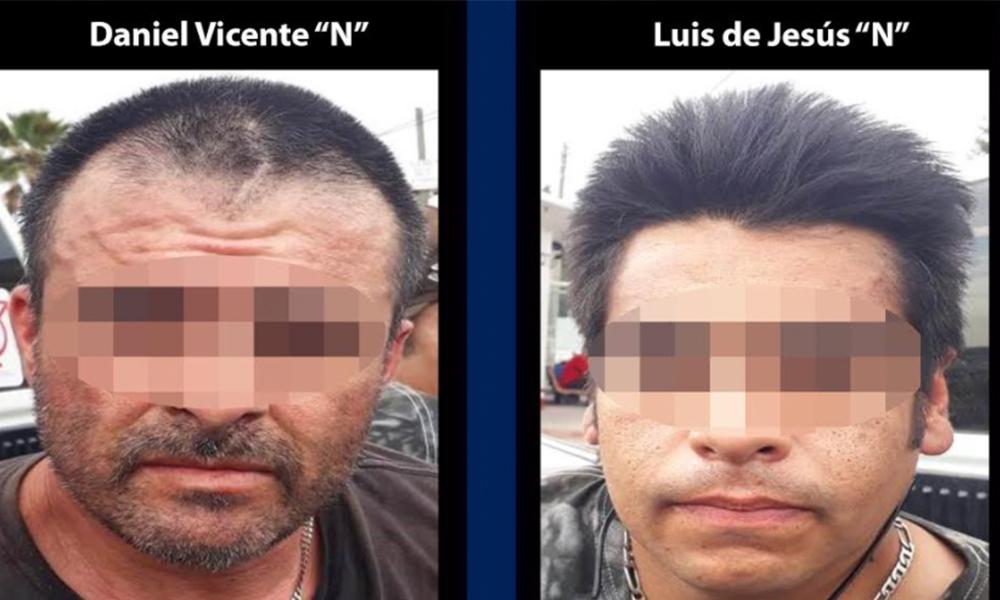 Aprehenden a dos sujetos en posesión de armas de fuego en Tijuana