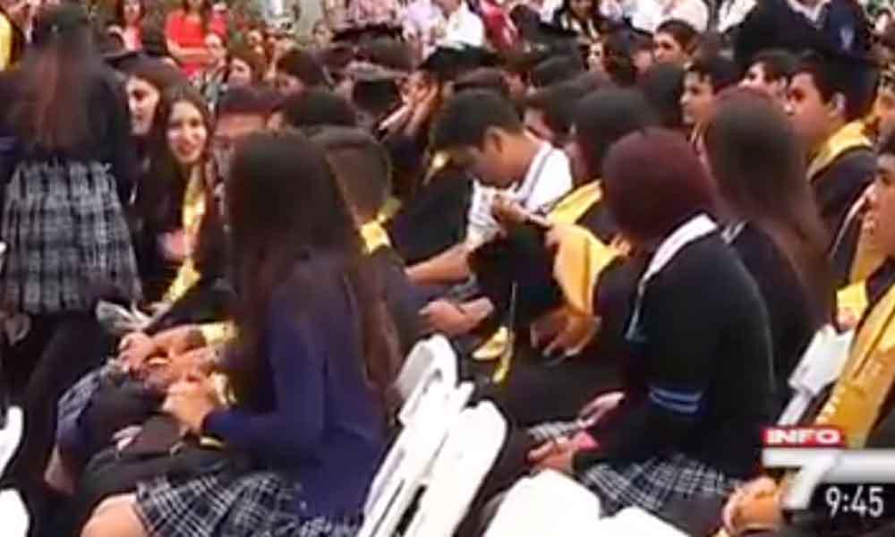 Arman alboroto en graduación de preparatoria sucedió en Tijuana (VIDEO)