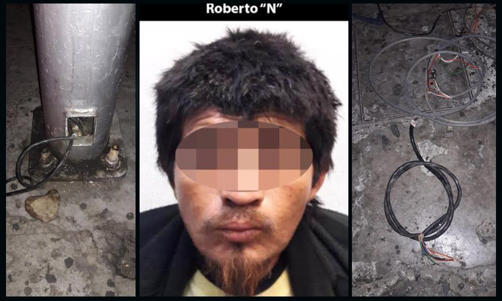 Aseguran a sujeto por robo de cableado de semáforos en Tijuana