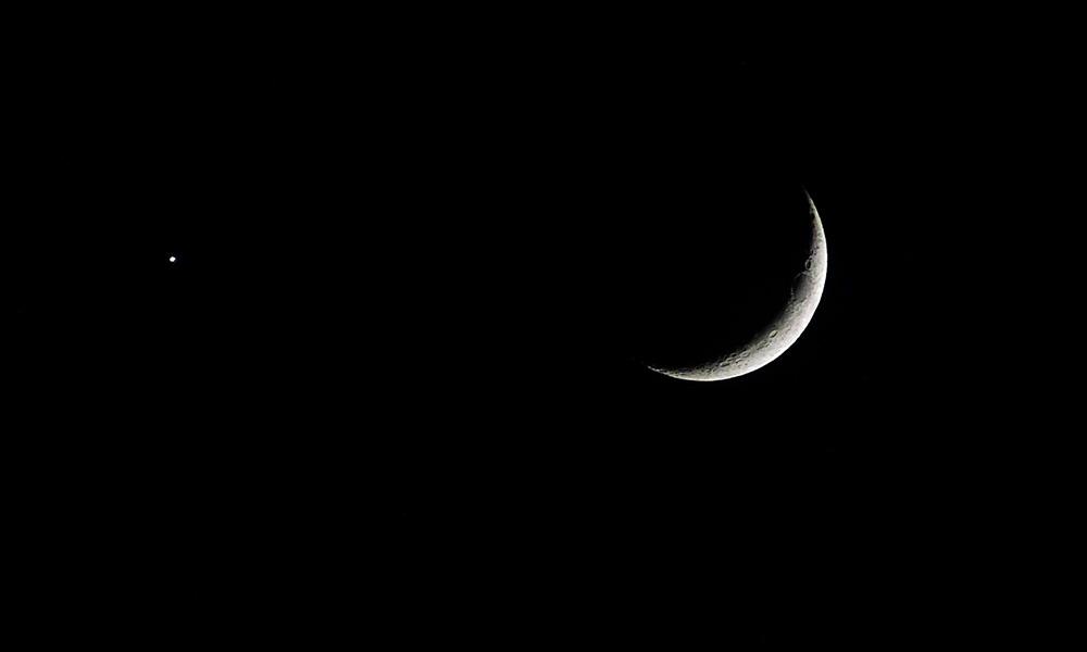 Así captaron a la Luna y al planeta Venus juntos  desde San Diego y Baja California