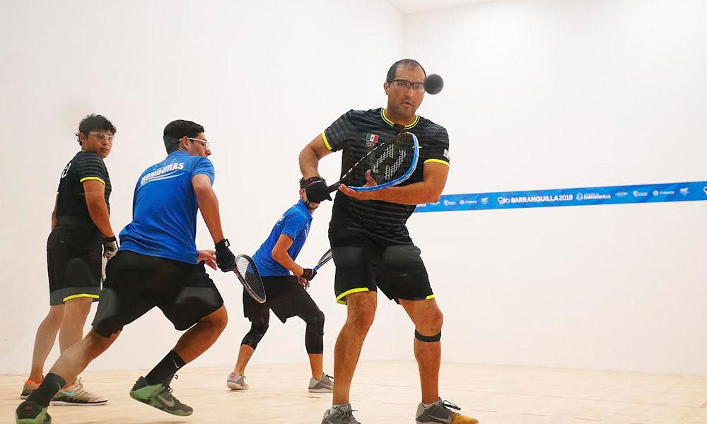Bajacaliforniano Álvaro gana oro para México en Racquetbol doble en Barranquilla 2018