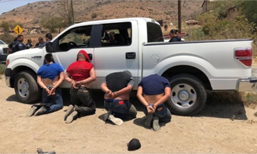 Balacera en Villas del Campo tras rescatar a hombre secuestrado, detienen a cuatro delincuentes