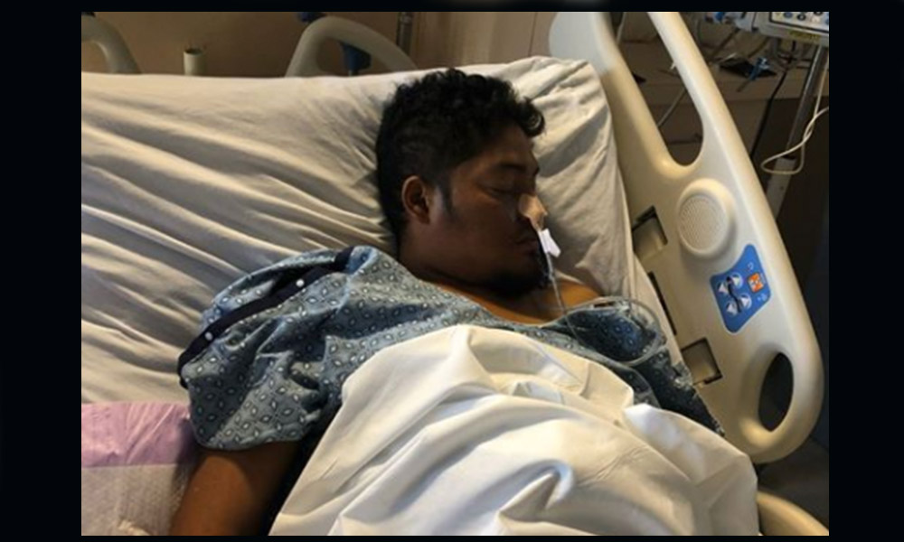 Urge localizar a familiares de Andrés hospitalizado en Carolina del Norte