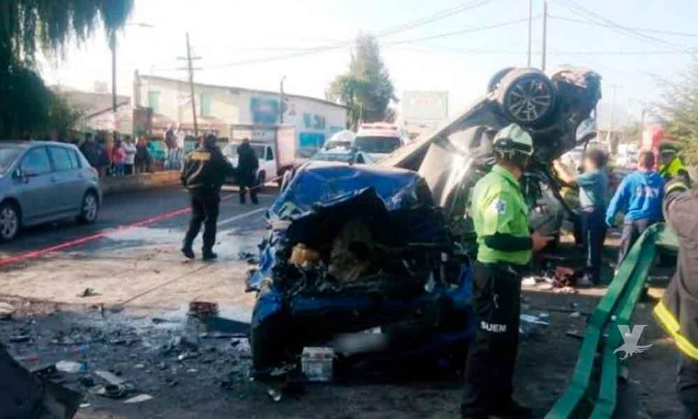 Conductor de BMW huye de un accidente, para ocasionar otro y dejar a dos personas muertas