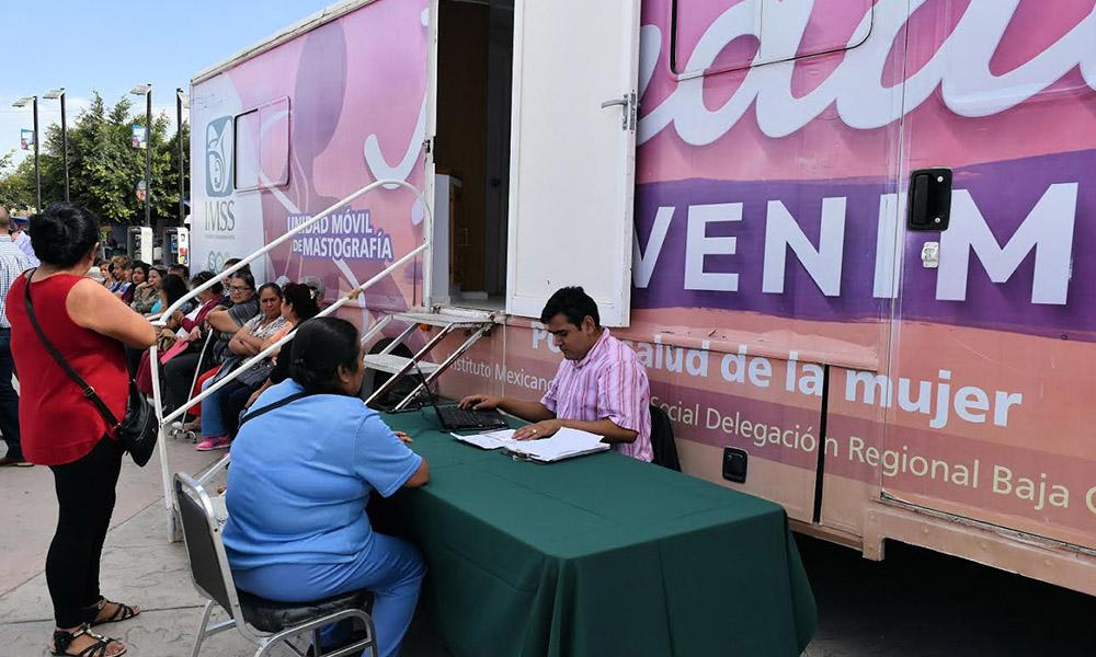 Continúa IMSS con el programa de mastografías Unidades Móviles en Baja California
