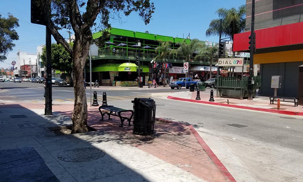 Continúan con las obras de mejoramiento en zona centro de Tijuana