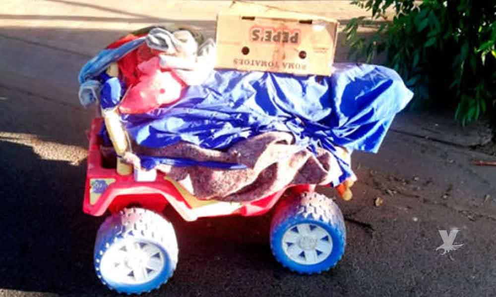 Dejan cadáver en carrito de niño en Mexicali