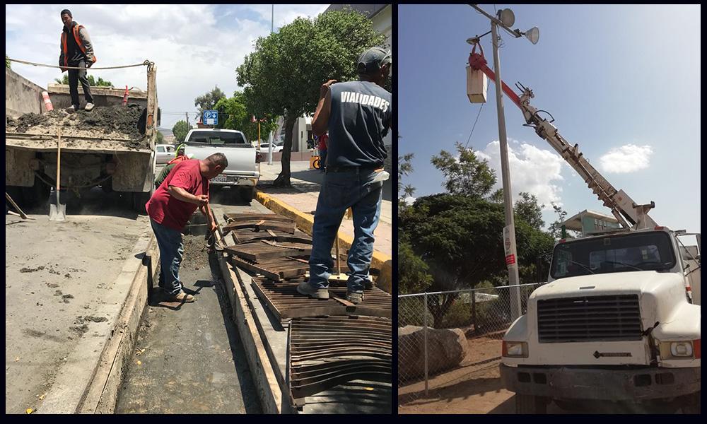 Da mantenimiento Obras Públicas a pluviales y luminarias en Tecate
