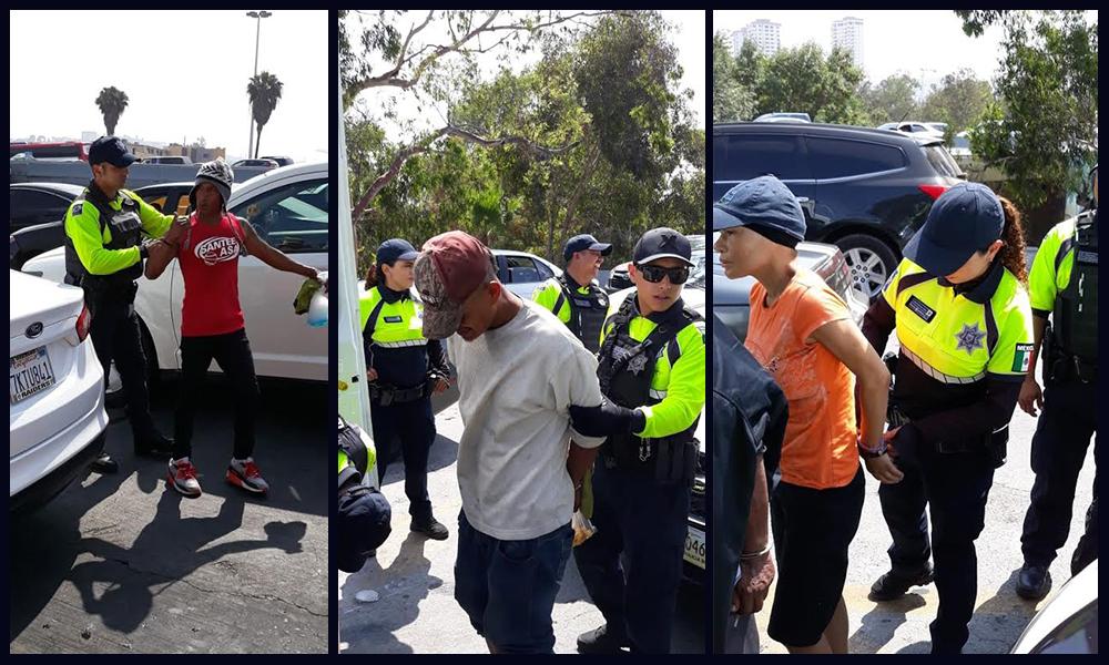 Detienen a sujetos tras operativo en la línea Internacional en Tijuana