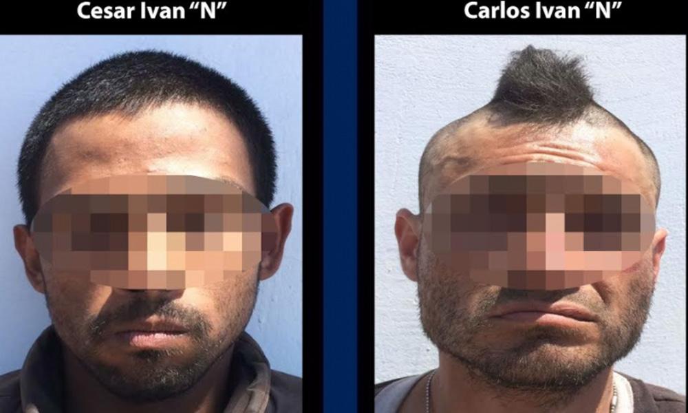 Detienen a dos sujetos y decomisan medio kilo de marihuana, cristal y réplicas de pistolas en Tijuana