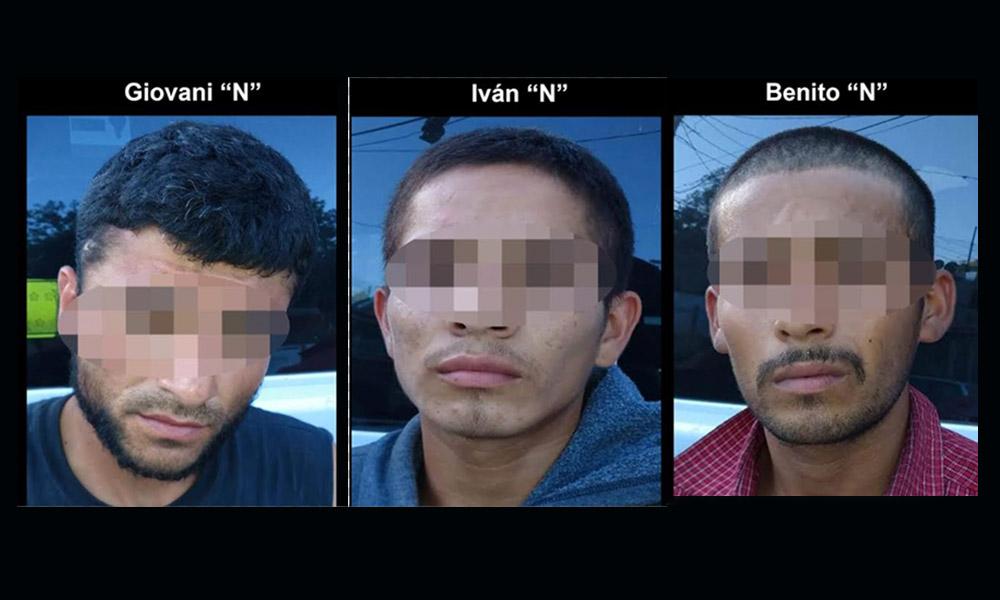 Aseguran a tres sujetos en posesión de auto robado en Tijuana