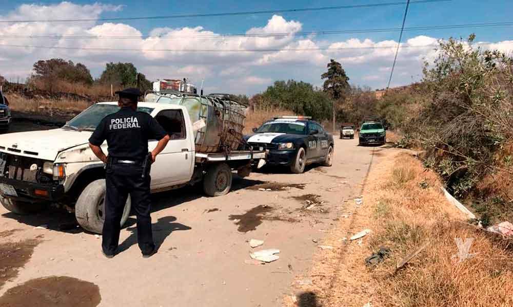 Ejército Mexicano y Policía Federal decomisan 35 mil litros de diésel en vehículo abandonado en Tecate