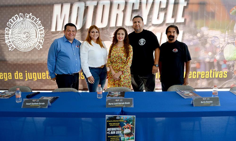 """Entregarán más de 3 mil juguetes y útiles escolares en el """"Motorcycle Run 2018"""" en Playas de Rosarito"""