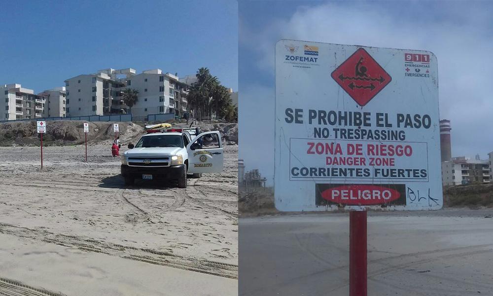 Exhortan a los visitantes a atender las recomendaciones de bomberos y salvavidas de Playas de Rosarito