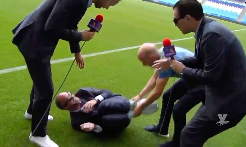 (VIDEO) Luis García se tira al suelo para burlarse de la actuación de Neymar en el juego contra México