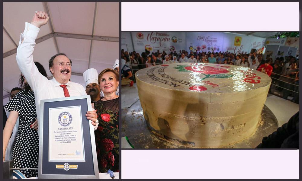 Hacen en México el mazapán más grande del mundo, establece el récord Guinness