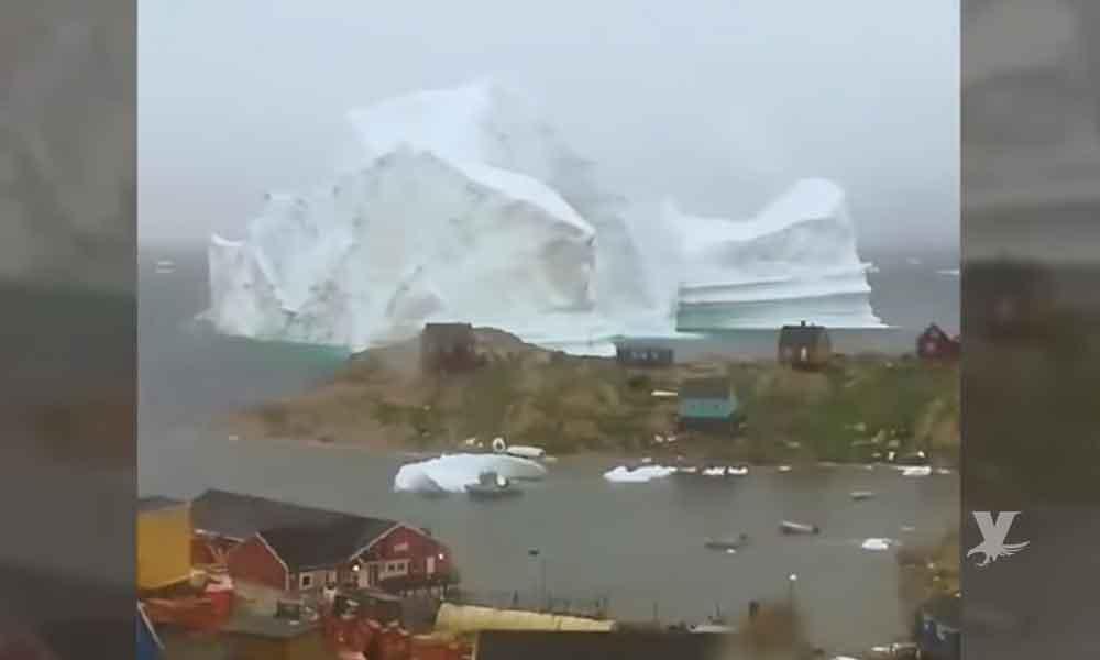 (VIDEO) Iceberg enorme con un peso mayor a 11 millones de toneladas podría causar un tsunami