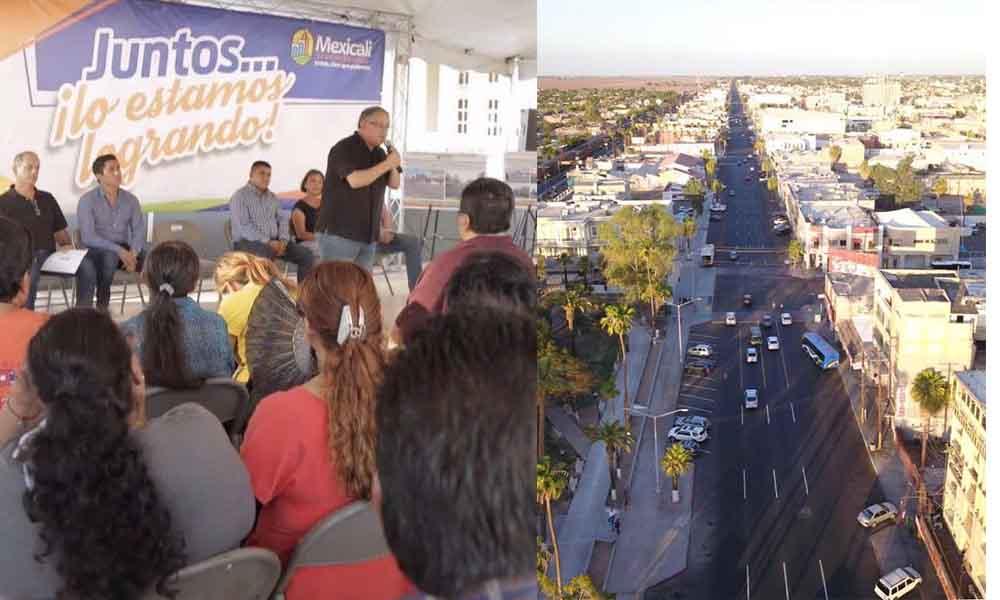 Inauguran obra de pavimentación de la avenida Madero en Mexicali