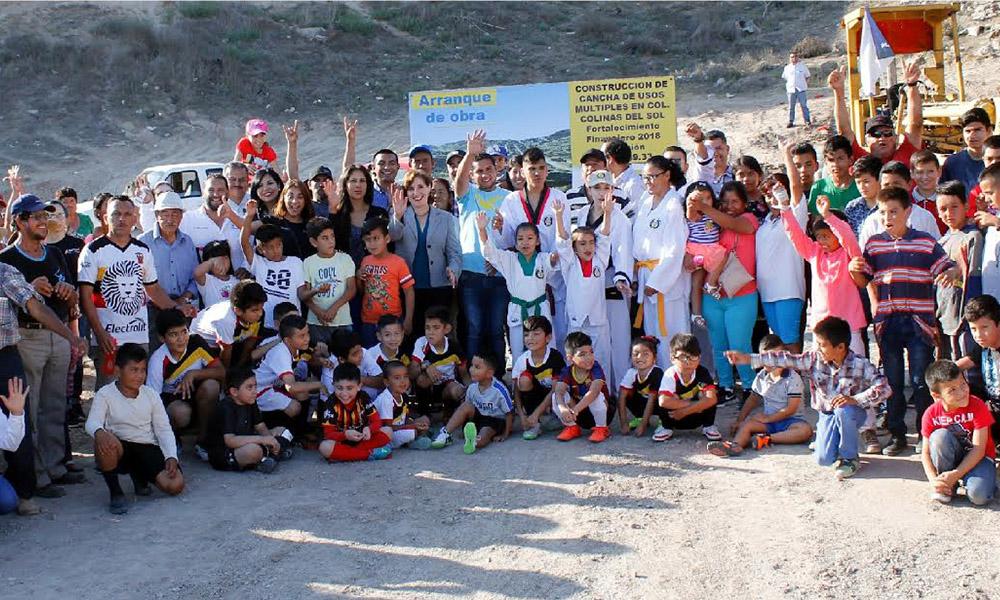 Inicia construcción de cancha de usos múltiples en Colinas del Sol en  Playas de Rosarito
