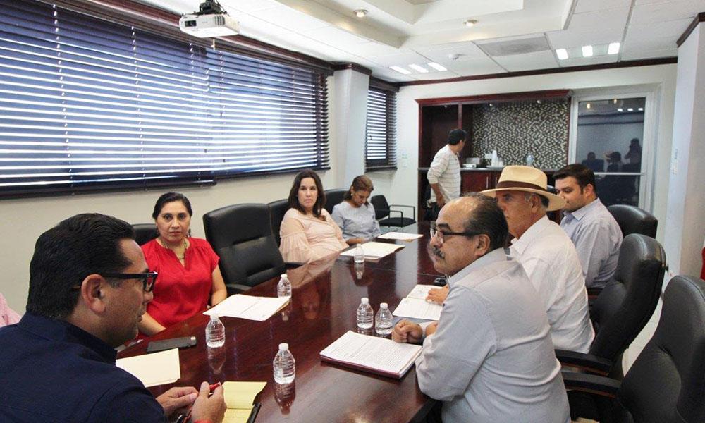 Intercambian información consejeros del IEEBC y el Presidente de la Mesa Directiva del Congreso del Estado