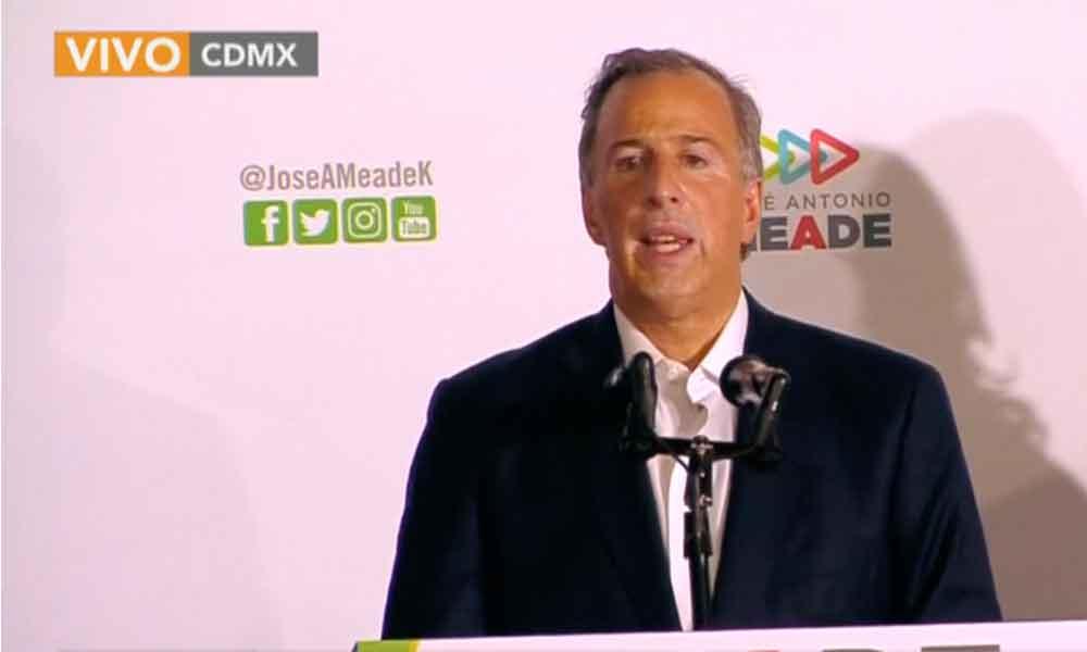 Meade reconoce derrota y le desea éxito a AMLO