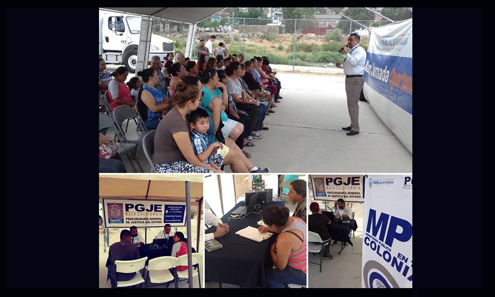 Llevan a cabo la Jornada de Servicios con el programa Ministerio Público en Tu Colonia en Tecate