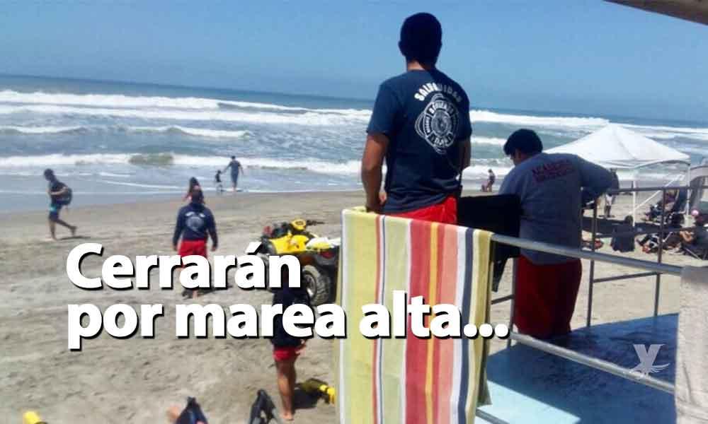 Playa de Tijuana cerrará por fuertes corrientes y marea alta; del miércoles al viernes por la noche