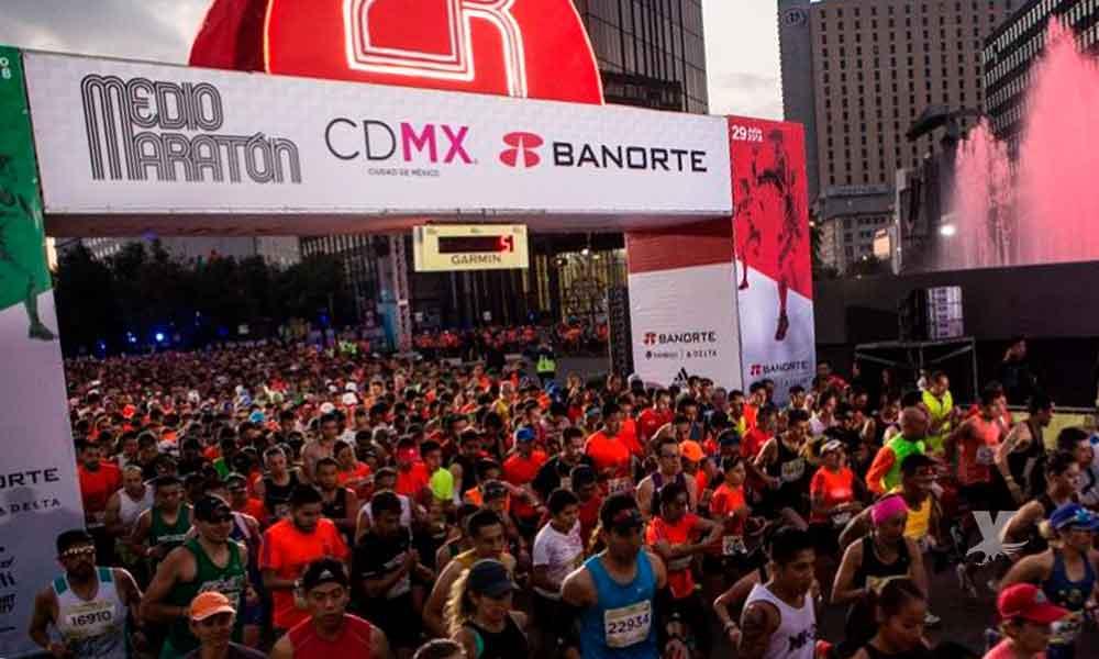 Dos corredores perdieron la vida durante el Medio Maratón de la CDMX