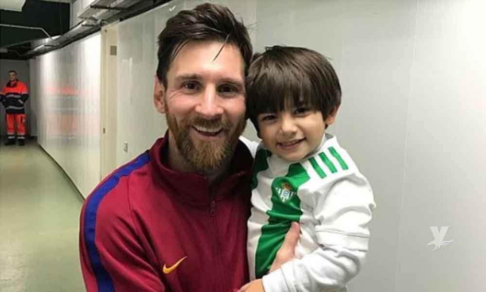 (VIDEO) Hijo de Andrés Guardado conoce a Messi y esta fue su reacción