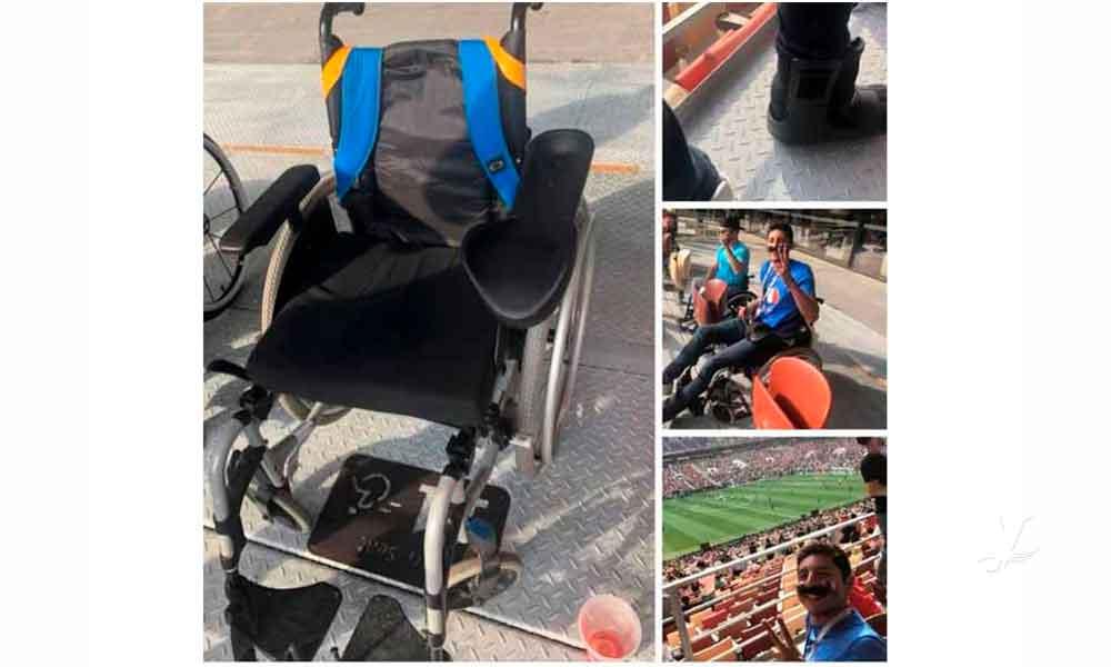 Mexicano finge usar silla de ruedas para entrar a la final del mundial en Rusia