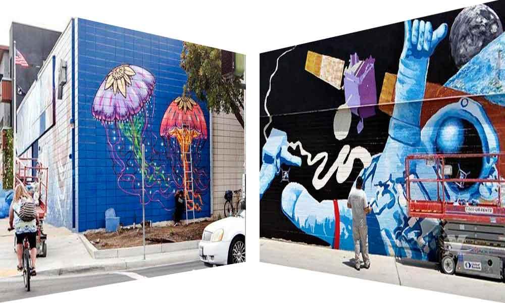 Artista de Baja California ayuda a embellecer calles de Imperial Beach con murales