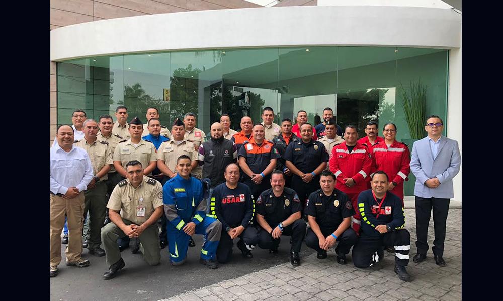 Bomberos de Tijuana participan en taller nacional de búsqueda y rescate en Guadalajara