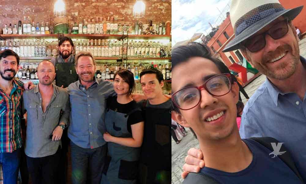 """Bryan Cranston y Aaron Paul, de """"Breaking Bad"""", visitan Oaxaca para las fiestas de La Guelaguetza"""
