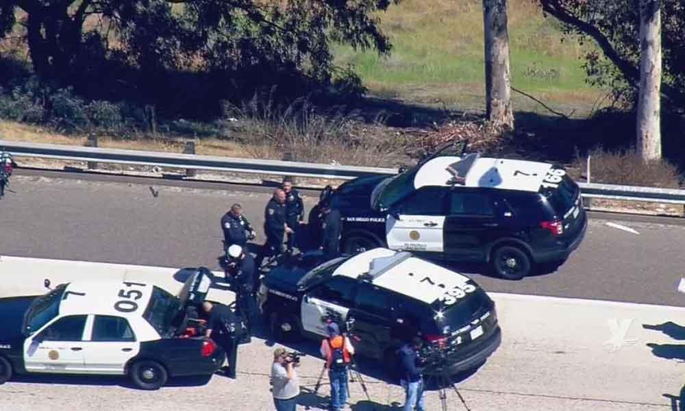 Cierran la 805 a la altura de San Diego por peatón atropellado