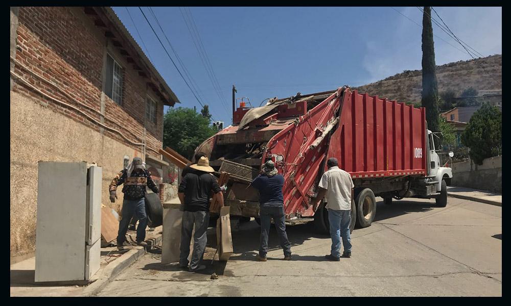 Recolectan 7 toneladas de basura voluminosa en la Primero de Mayo de Tecate