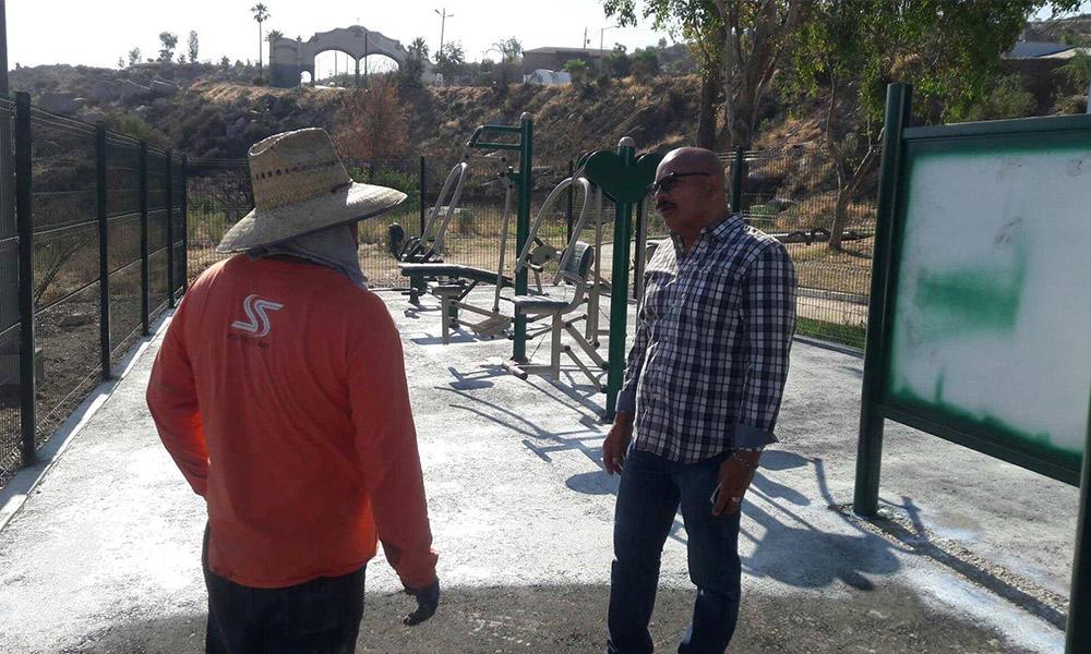 Remodelan el espacio deportivo en el Fraccionamiento Santa Anita de Tecate