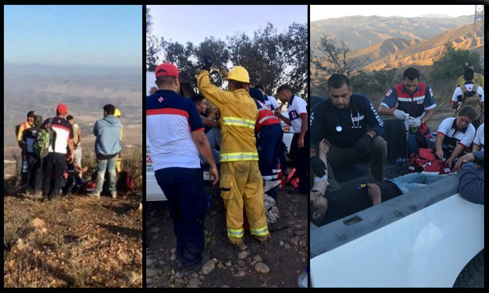 Rescatan tres jóvenes extraviados en Cerro Coronel de Rosarito